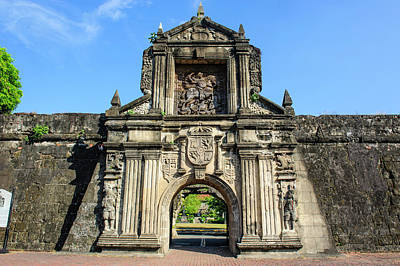 Entrance To The Old Fort Santiago Art Print