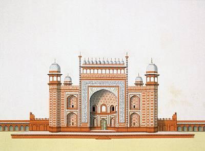Entrance To The Taj Mahal Art Print