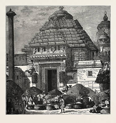 Juggernaut Drawing - Entrance To The Temple Of Juggernaut by English School