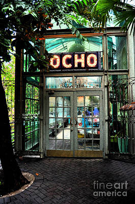 Photograph - Entrance To Trendy Ocho Restaurant In San Antonio Texas Ink Outlines Digital Art by Shawn O'Brien