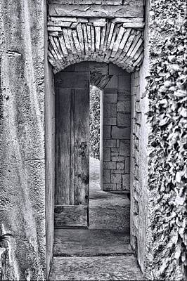 Entrancing Entrance In Monochrome Art Print by Delilah Downs