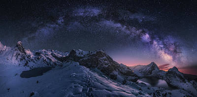 Milky Way Wall Art - Photograph - Entrelagos by Carlos F. Turienzo