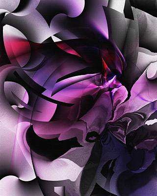 Entropy In Purple Art Print