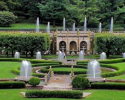 Entry Fountains At Longwood Gardens Art Print by Kim Bemis