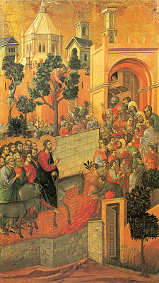 Jerusalem Painting - Entry Into Jerusalem by Duccio di Buoninsegna