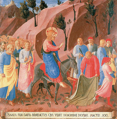 Entry Into Jerusalem Art Print by Fra Angelico
