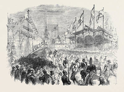 Entry Of The King Of Prussia Into Knigsberg The Procession Art Print by English School