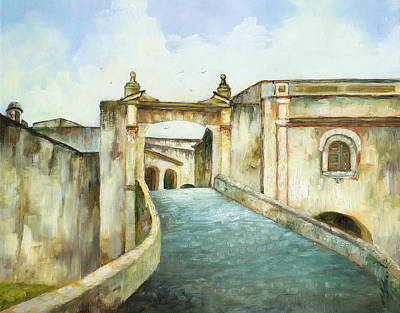 Entry To San Cristobal Art Print by Monica Linville