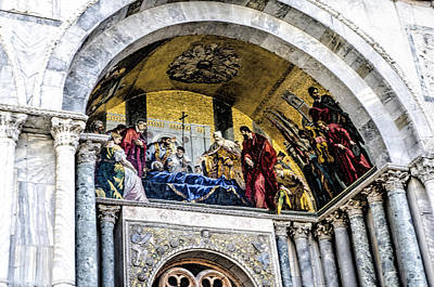 St. Marks Basilica Photograph - Entry To St Marks Basilica - Venice by Jon Berghoff