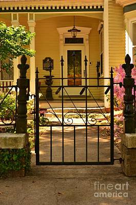 Photograph - Entryway To The Strausz House by Bob Sample