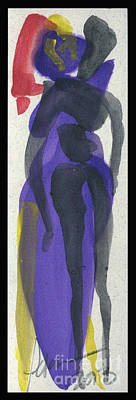 Love Making Painting - Entwined Figures Series. Your Curves Turn Me On.  by Cathy Peterson