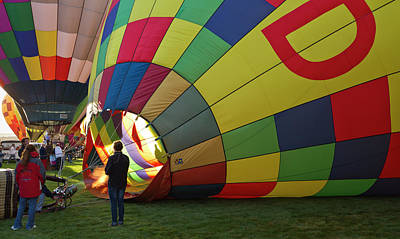 Balloon Festival Photograph - Envelope Inflation At The Albuquerque by William Sutton