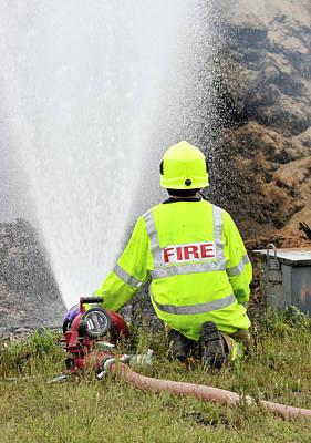 Environmental Fire Services Art Print by Public Health England