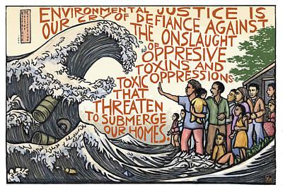 Climate Mixed Media - Environmental Justice by Ricardo Levins Morales