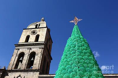 Environmentally Friendly Christmas Tree Art Print by James Brunker