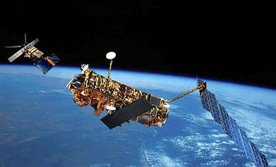 Ers Photograph - Envisat And Ers-1 Satellites by European Space Agency