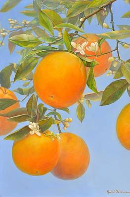 Painting - Envolee D Orange by Muriel Dolemieux