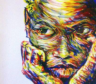 Nigerian Artist Painting - Envy by Bakare Shariff
