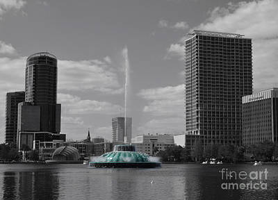 Photograph - Eola Fountain by Jerry Hart