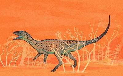 Paleozoology Photograph - Eoraptor Dinosaur by Nemo Ramjet