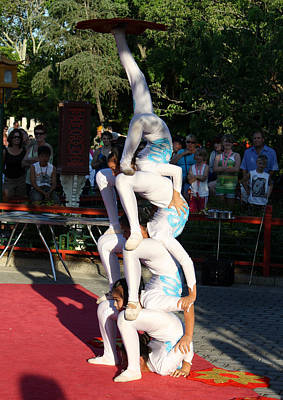Photograph - Epcot Acrobats by David Nicholls
