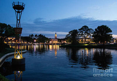 Photograph - Epcot At Night by Suzanne Luft