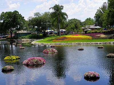 Photograph - Epcot Center Flower Festival 1 by Judy Wanamaker