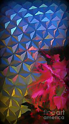 Epcot Centre Abstract Art Print by John Malone