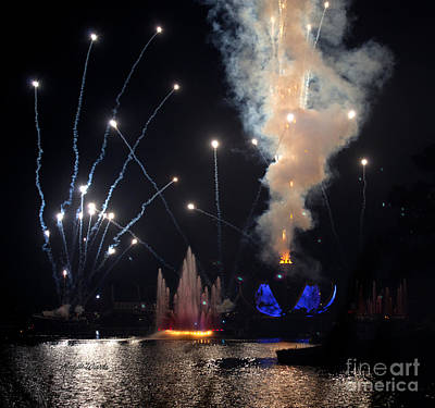 Photograph - Epcot Fireworks - Open Earth by Michelle Wiarda