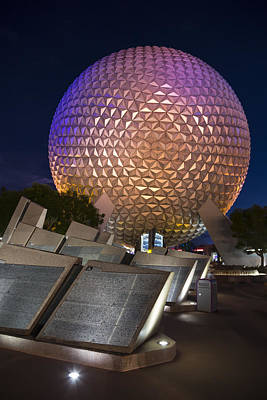 Epcot Spaceship Earth Art Print by Adam Romanowicz