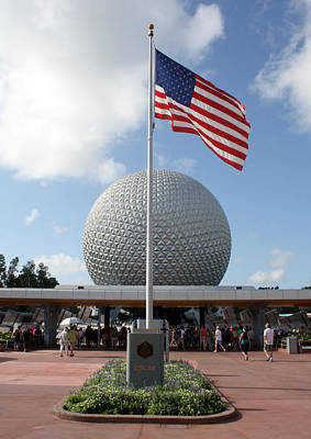 Photograph - Epcot Usa by David Nicholls