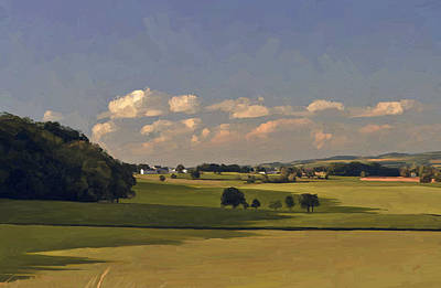 Hill Painting - Epen In Summer By Briex After Photo Fred Fouarge by Nop Briex