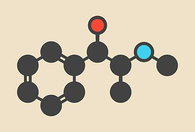 Ephedrine Stimulant Drug Molecule Art Print