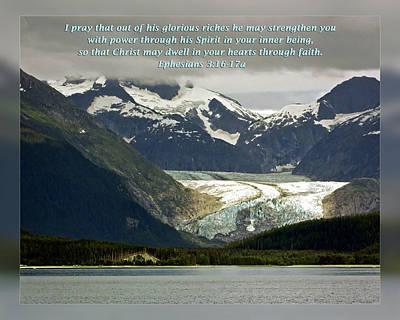 Ephesians 3 16-17a Art Print