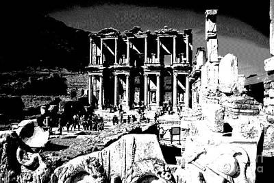 Photograph - Ephesus - Celsus Library by Jacqueline M Lewis