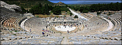 Reconstruction Photograph - Theater Of Ephesus by Stephen Stookey