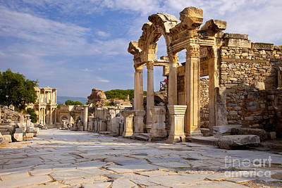 Library Of Celsus Photograph - Ephesus by Brian Jannsen