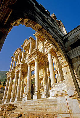 Ephesus Library 2 Art Print by Dennis Cox WorldViews