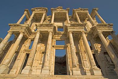 Ephesus Library 1 Art Print by Dennis Cox WorldViews