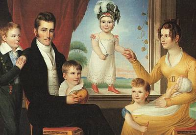 Ephraim Hubbard Family Art Print