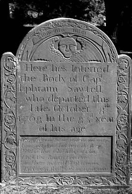 Photograph - Ephraim Satwell 1768 by Mary Bedy