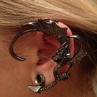 Dragon Photograph - Epic Dragon Earring Is Epic! #dragon by Jenni Pixl