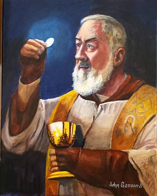 Padre Pio Painting - Epicenter by John Genuard
