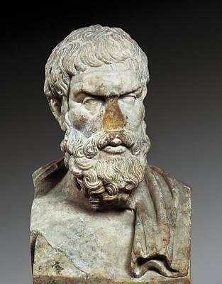 Epicurus 341-270 Bc. Greek Philosopher Art Print