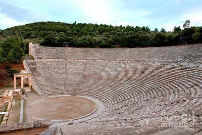 Photograph - Epidavros Amphitheatre 3 by Deborah Smolinske