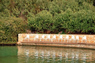 Photograph - Epidavros Resort Chairs In A Row by Deborah Smolinske