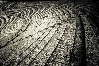 Epidavros Theatre Seats Art Print by David Waldo