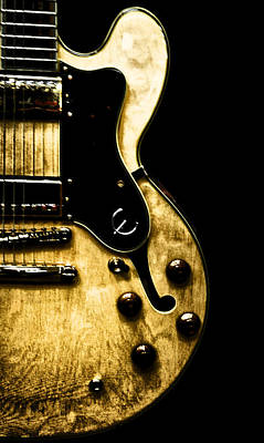 Epiphone Guitars Photograph - Epiphone Broadway Electric Guitar by Bill Cannon