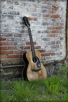 Epiphone Guitars Photograph - Epiphone Caballero Acoustic Guitar by Bill Cannon