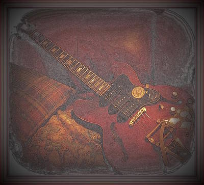 Epiphone Riveria Archtop Guitar Print by Rosemarie E Seppala